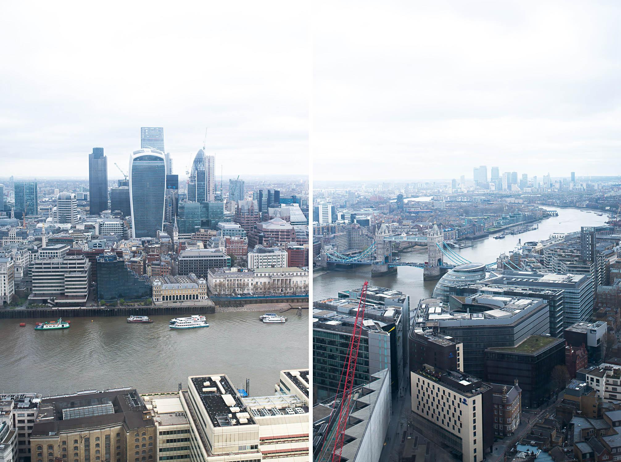 London views from the Shangri-La Hotel at The Shard London