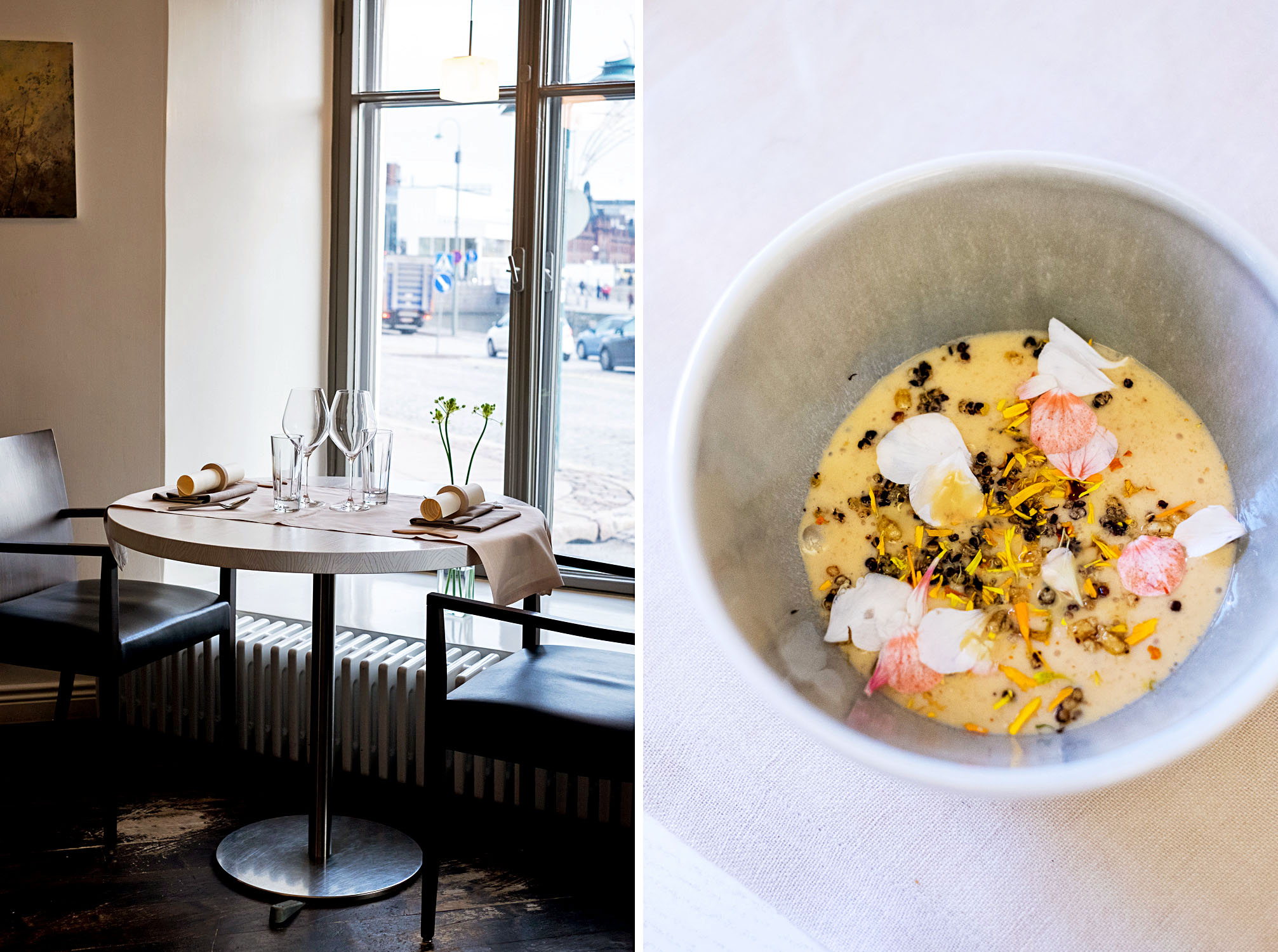Lunch at Michelin-starred restaurant OLO / Where to Eat in Helsinki: A Two-Day City Guide to The Finnish Capital