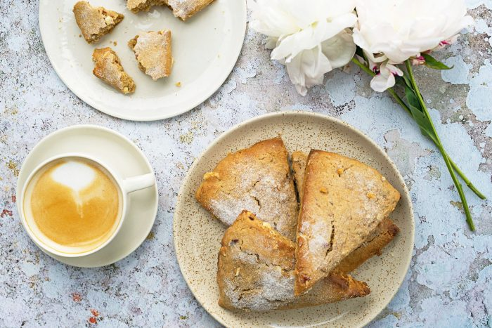Wild Cherries and White Chocolate Scones with Kamut Flour