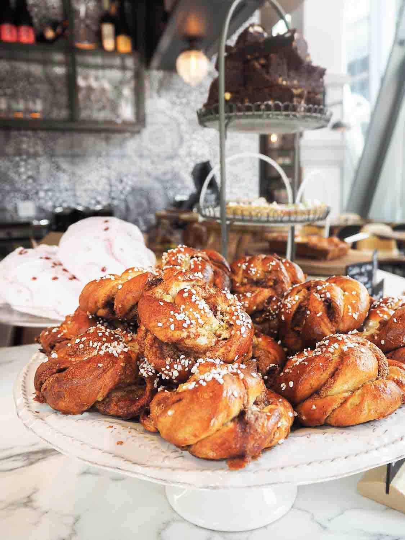 Cinnamon Buns at Aster in Nova Food, Victoria London