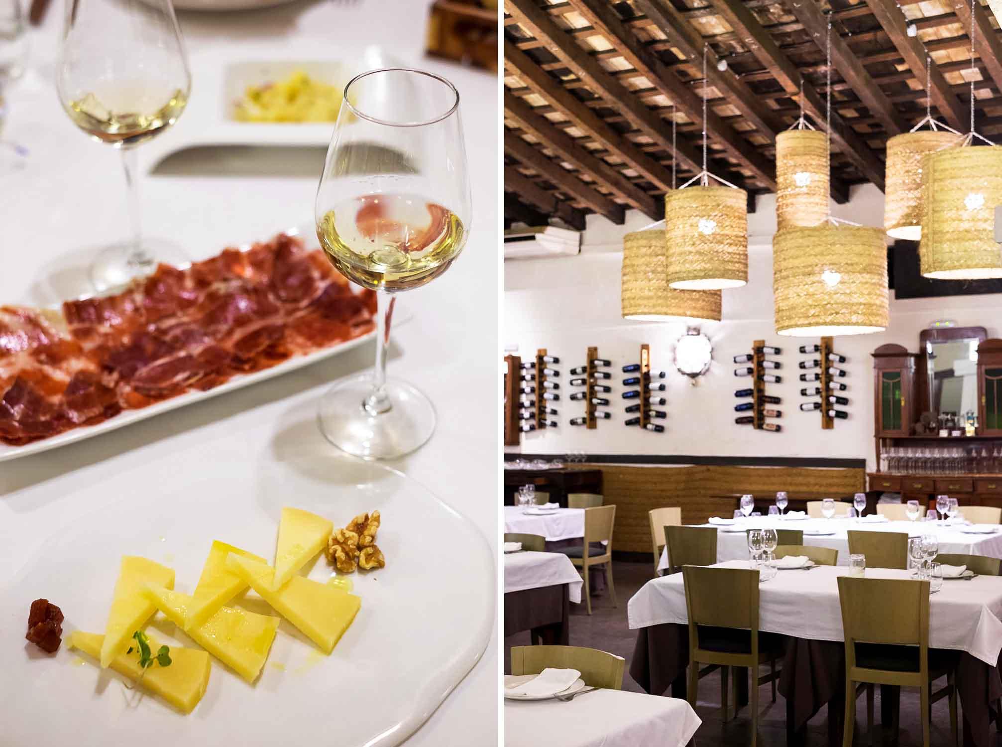 Dinner at La Carbona restaurant in Jerez de la Frontera, Spain