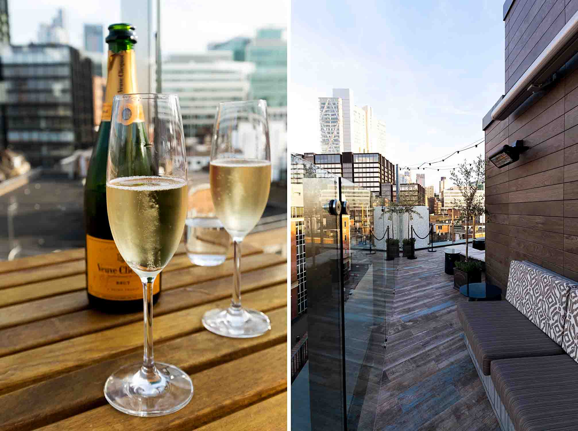 The Lido rooftop terrace at The Curtain Hotel in Shoreditch, London
