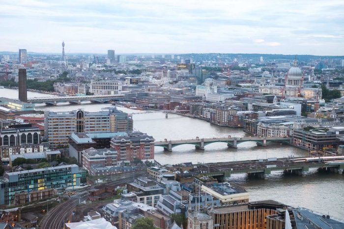 The view from Hutong restaurant on level 33 of The Shard, London
