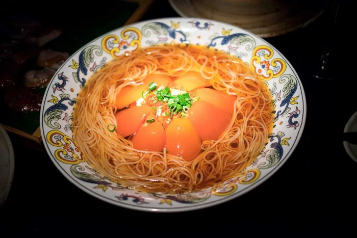 Northern Chinese cuisine at Hutong restaurant, located at level 33 of The Shard in London