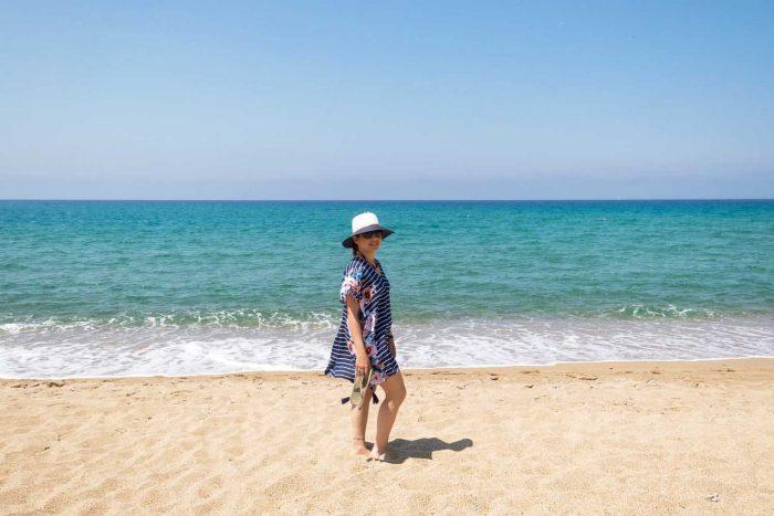 Beach in Costa Navarino, Greece
