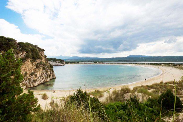 Voidokilia Beach near Costa Navarino Luxury Resort in Messinia, southwest Greece
