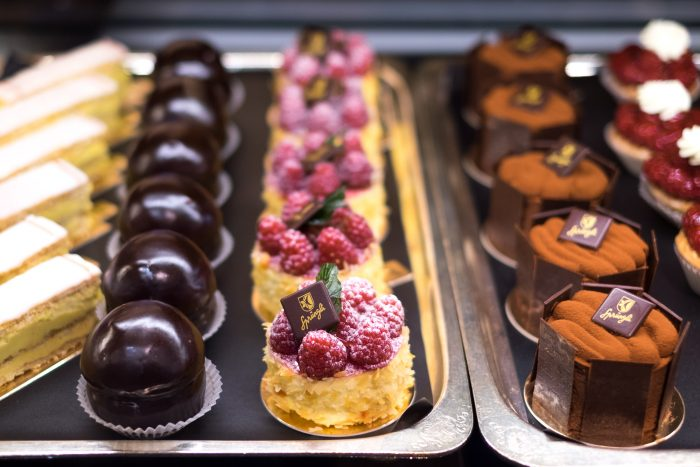 Cakes at Confiserie Sprüngli in Zurich, Switzerland