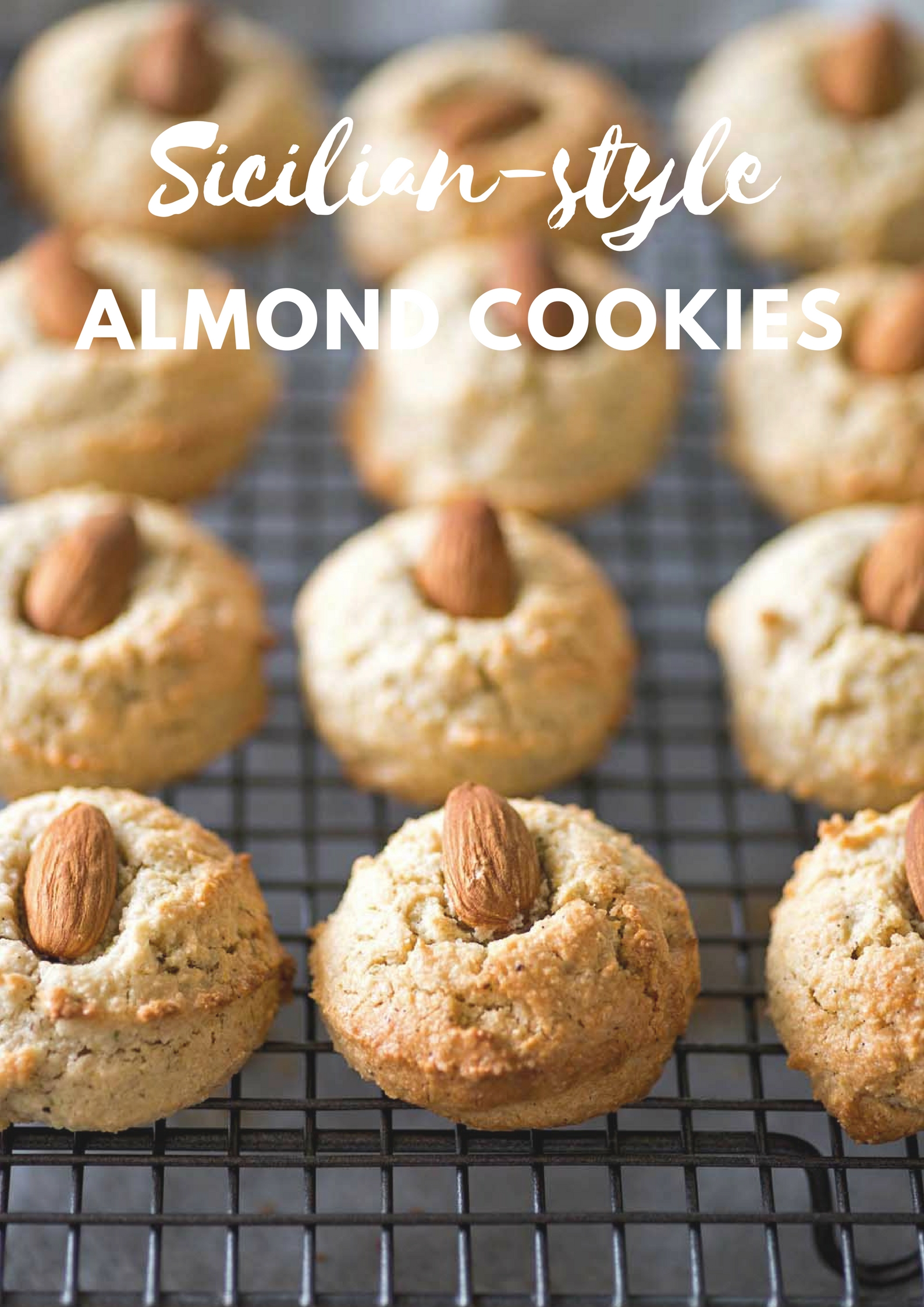 All you need to make these soft and fragrant Sicilian Almond Cookies are 3 ingredients: almonds, sugar, egg whites. These cookies are naturally dairy and gluten free.