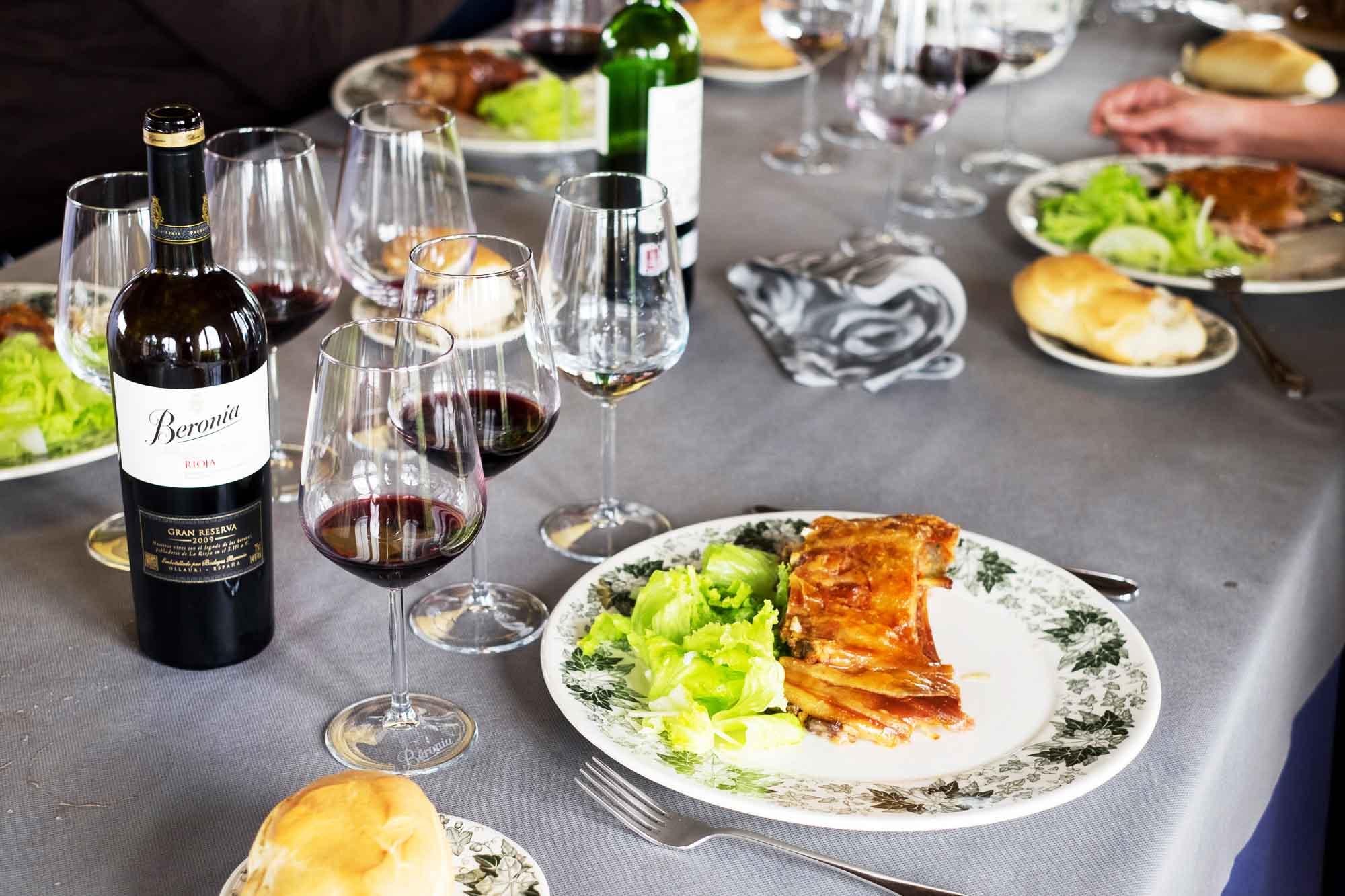 Lunch at Bodega Beronia in Rioja, Spain