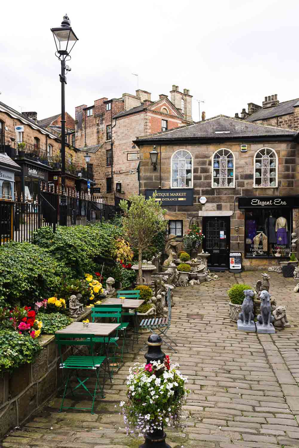 The town of Harrogate in Yorkshire, England UK