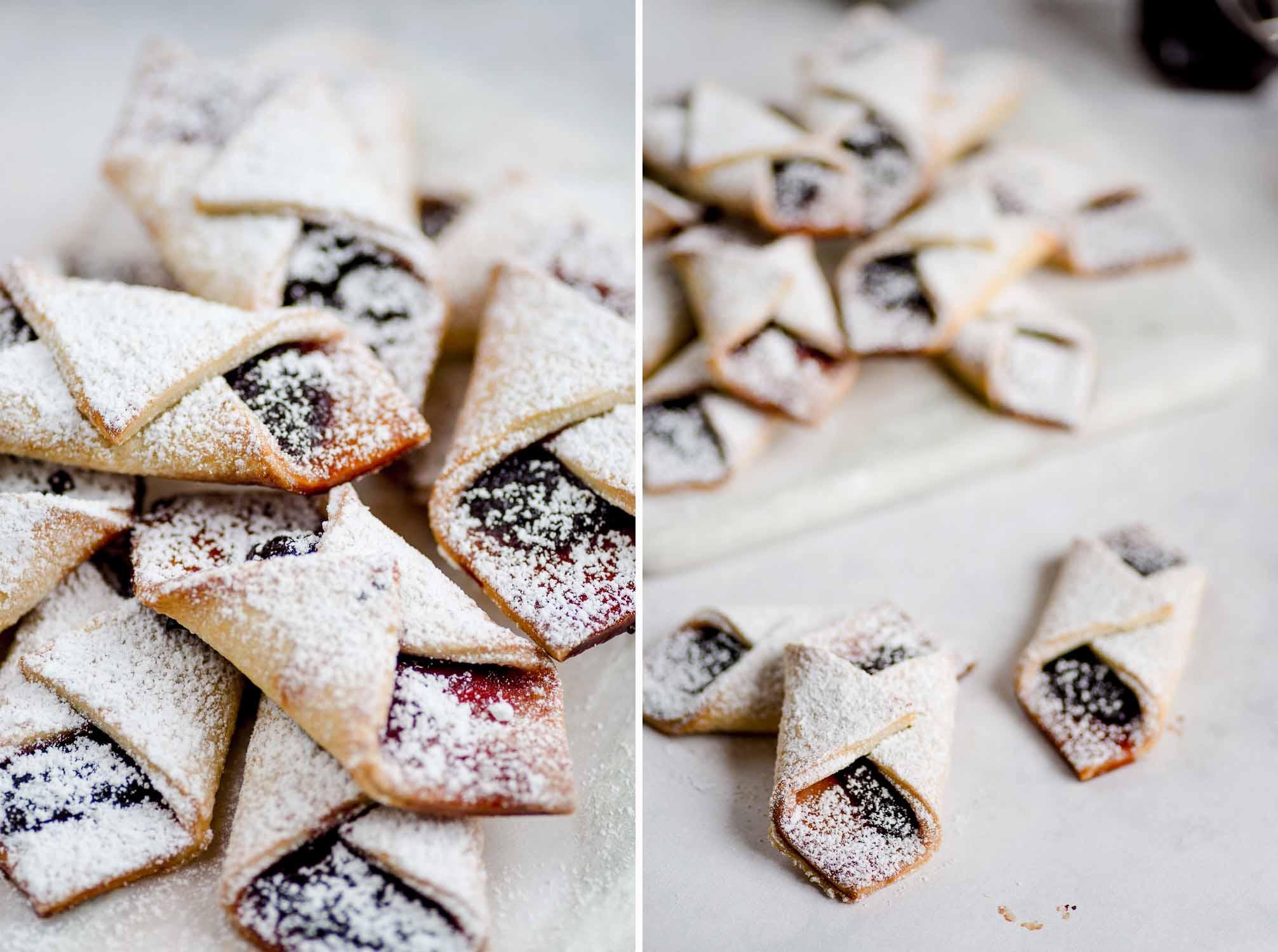 Polish Christmas Cookies.Kolaczki Biscuits Polish Christmas Cream Cheese Biscuits