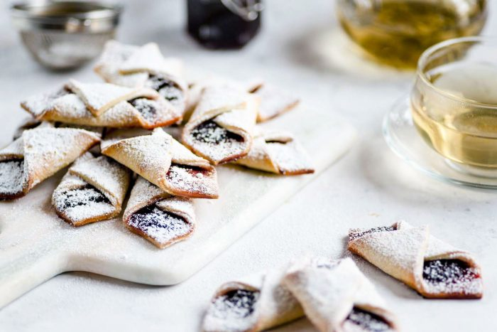Kolaczki Biscuits - Polish Cream Cheese Biscuits with Jam