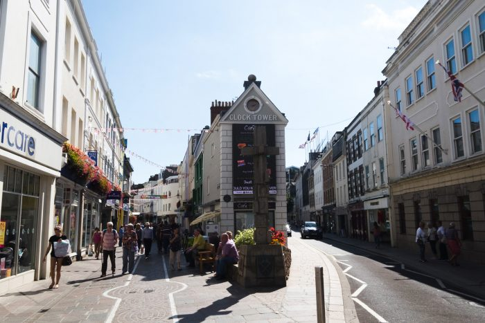 Saint Helier, the capital city of Jersey - Channel islands