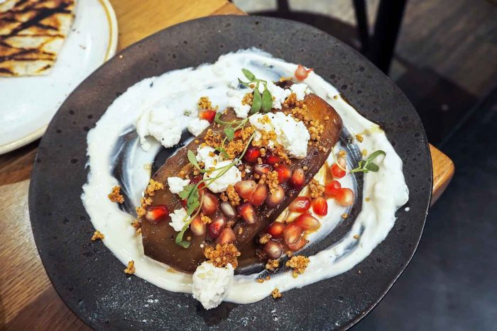 Foley's restaurant in Fitzrovia, London serves a Middle Eastern and Asian inspired menu of small plates and sharing dishes. Open all day for brunch, lunch and dinner.