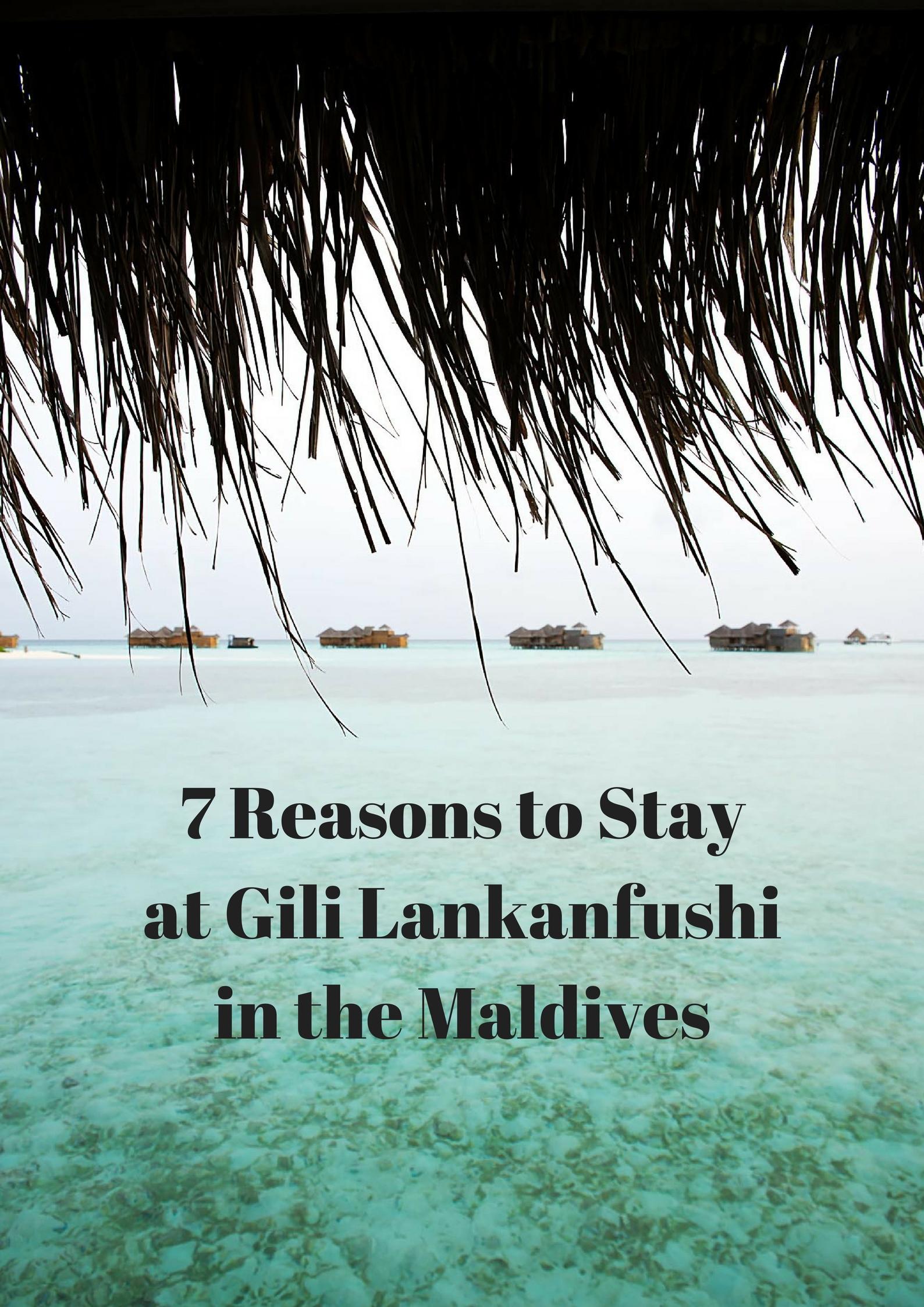 7 Reasons to Stay at Gili Lankanfushi in the Maldives