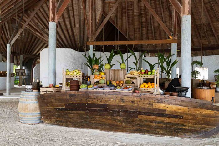 Breakfast buffet - 7 Reasons to Stay at Gili Lankanfushi in the Maldives