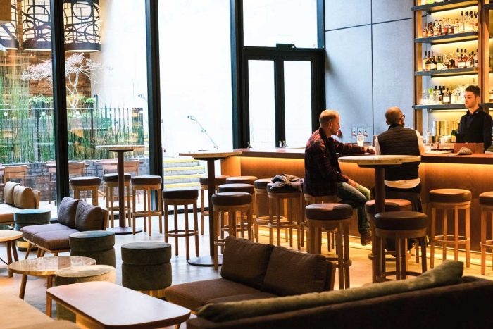 Lounge and Bar at Nobu Shoreditch in London