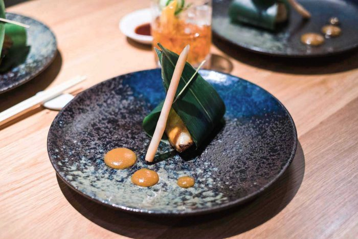 Black Cod Den Miso with Yuzu Miso Sauce and Pickled Ginger Root - Omakase Tasting Menu at Nobu Shoreditch in London