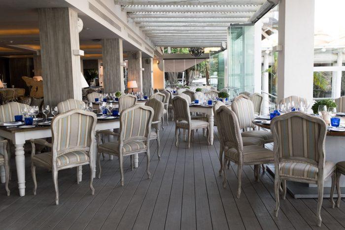 Sea Grill restaurant at Puente Romano Beach Resort in Marbella