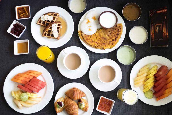 Breakfast   In-room dining at Alila Diwa Goa Resort, India