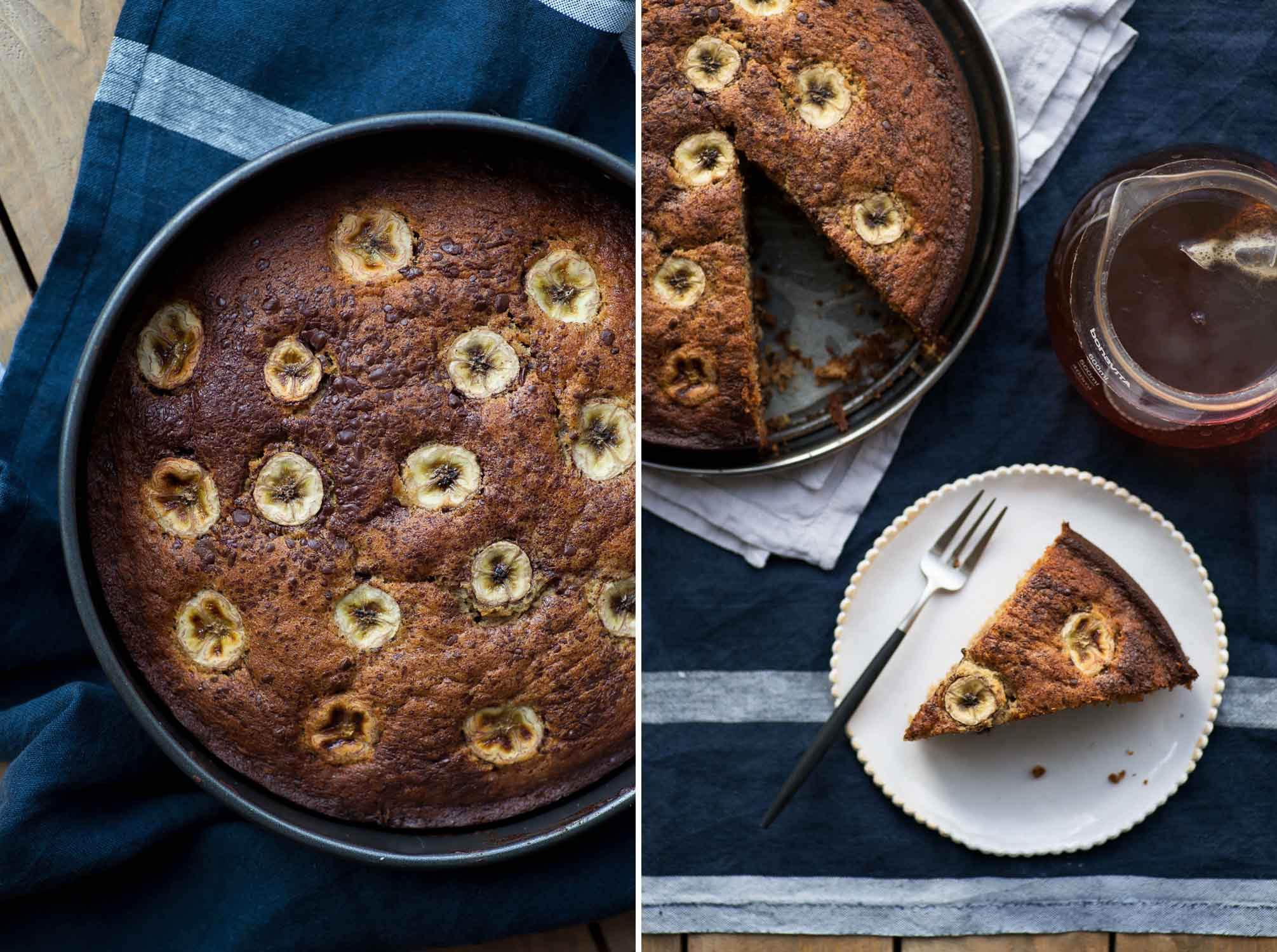 Easy Banana and Medjool Date Cake from Palestine on a Plate Cookbook by Joudie Kalla.