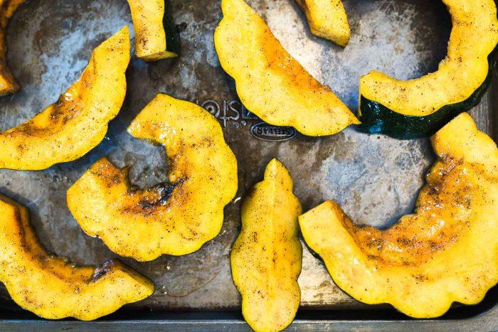 Honey roasted acorn squash