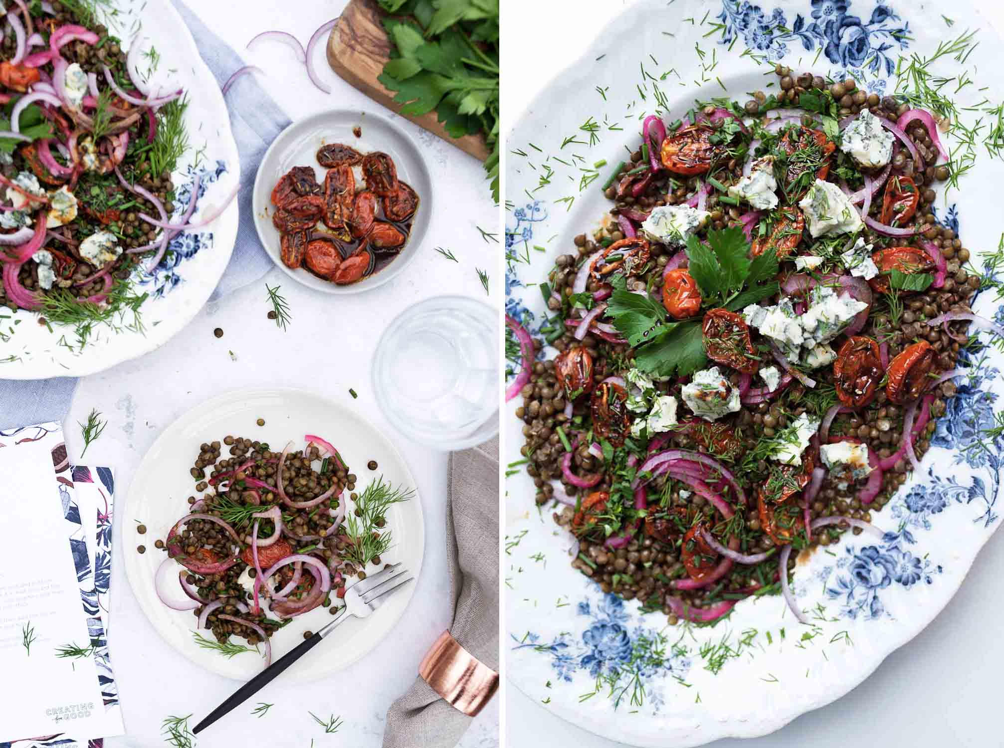 Yotam Ottolenghi recipe for Castelluccio lentils with tomatoes and Gorgonzola Salad