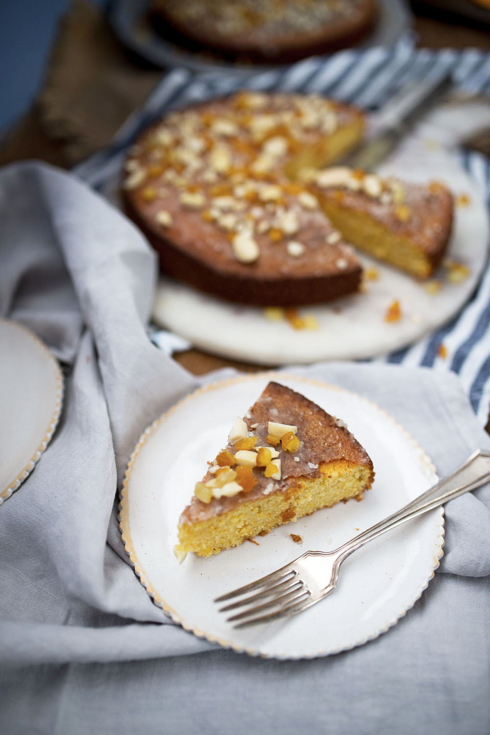 Nell Newman's Orange Scented Olive Oil Almond Cake from Share cookbook {Women for Women International}