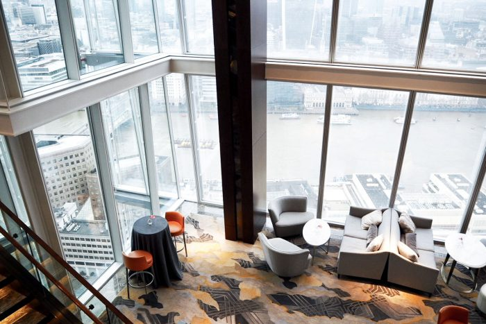 The view from Shangri-La at The Shard Hotel in London