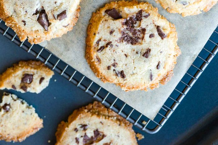Alison Roman's Salted Butter and Chocolate Chunk Shortbread Cookies