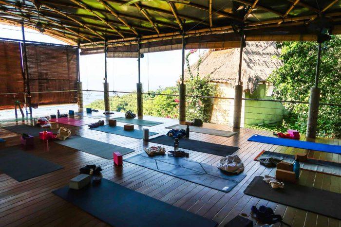 Yoga class in Bali