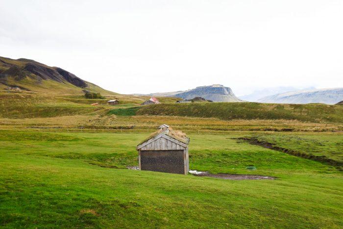 Bjarteyjarsandur Farm in Hvalfjordur valley, Iceland
