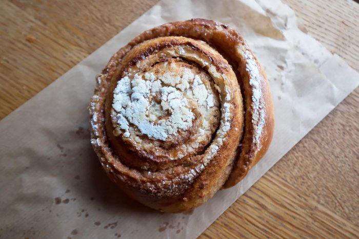 Cinnamon bun from Braud og co. bakery in Reykjavik, Iceland