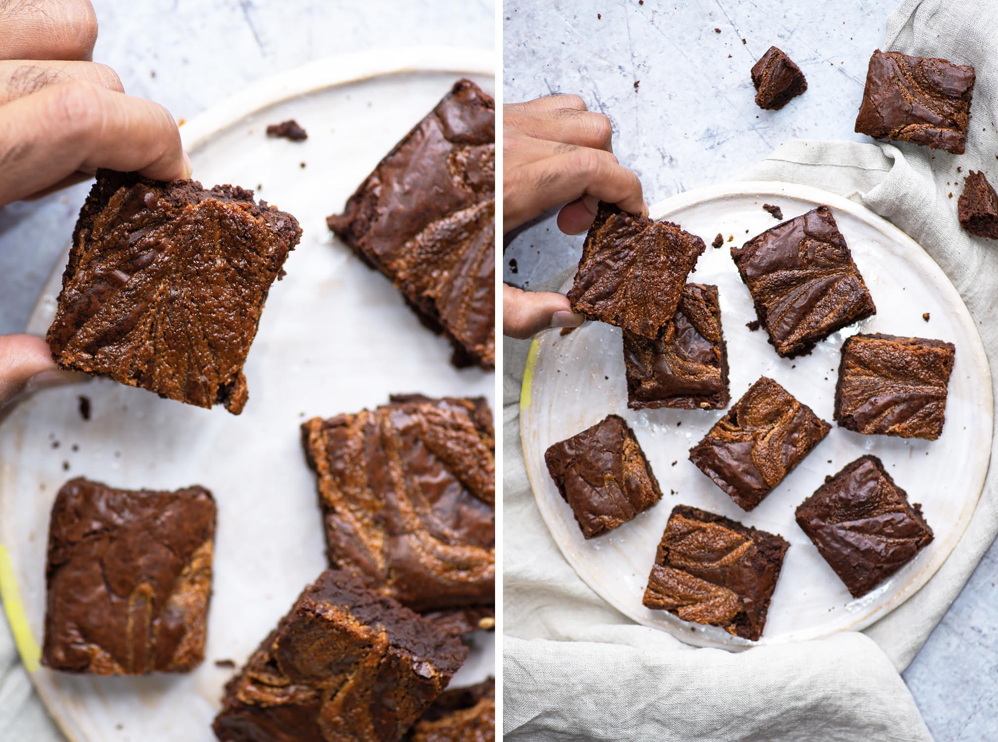 Flourless Dark Chocolate and Tahini Brownies (adapted from a David Lebovitz recipe) | Mondomulia