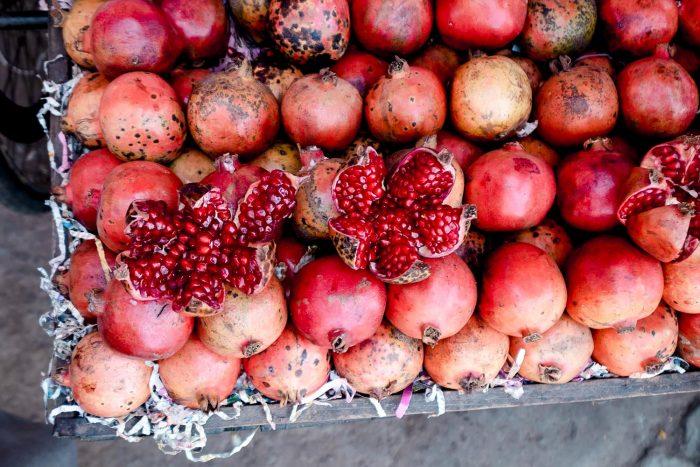 Pomegranate at Laad Bazaar in Hyderabad | Food Sherpa Trail with ITC Kakatiya Hotel