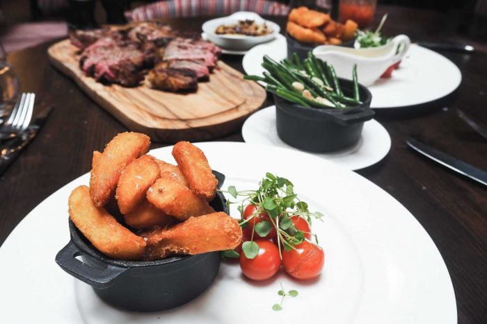 Lunch at Mr White's English Chophouse restaurant in Whitechapel, East London