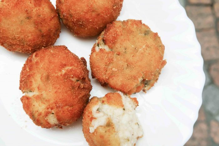 Croquetas at Taverna Txiriboga | A Guide to The Best Pintxos Bars in Bilbao | Mondomulia