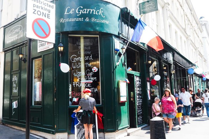 French Dining at Le Garrick restaurant in Covent Garden, London