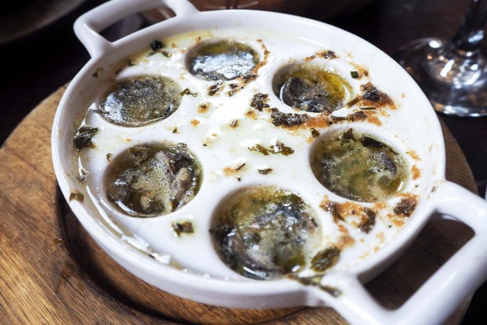 Escargots | French Dining at Le Garrick restaurant in Covent Garden, London
