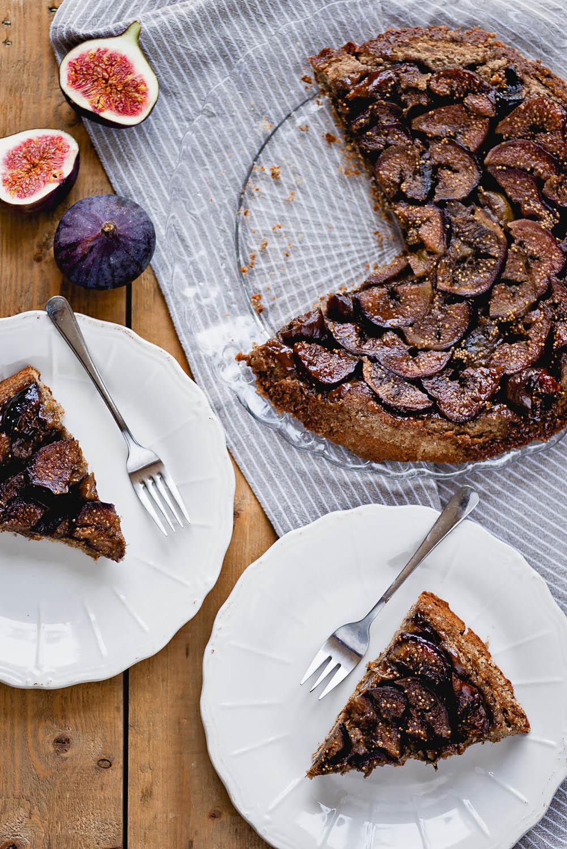 Fig and Buckwheat Tarte Tatin | Recipe from Farmacy Cookbook by Camilla Fayed | Photography by Mondomulia
