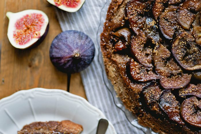 Fig and Buckwheat Tarte Tatin | Recipe from Farmacy Cookbook by Camilla Fayed | Photography by Mondomulia