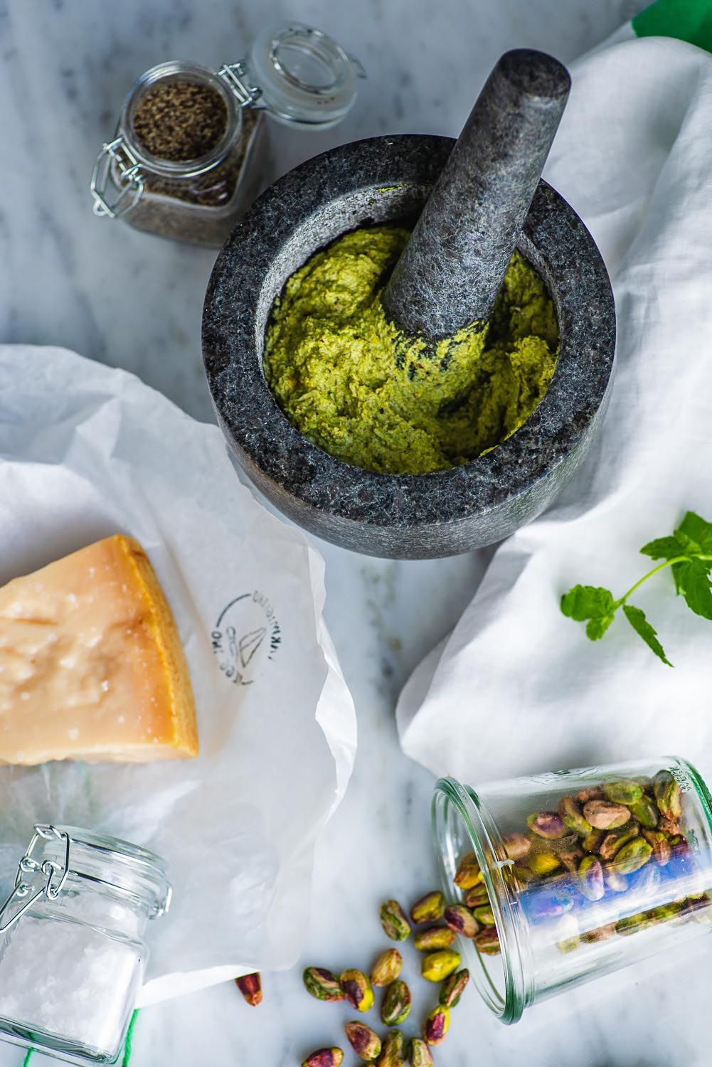 Pistachio & Mint Pesto is a variation of the traditional green pesto we all know and love
