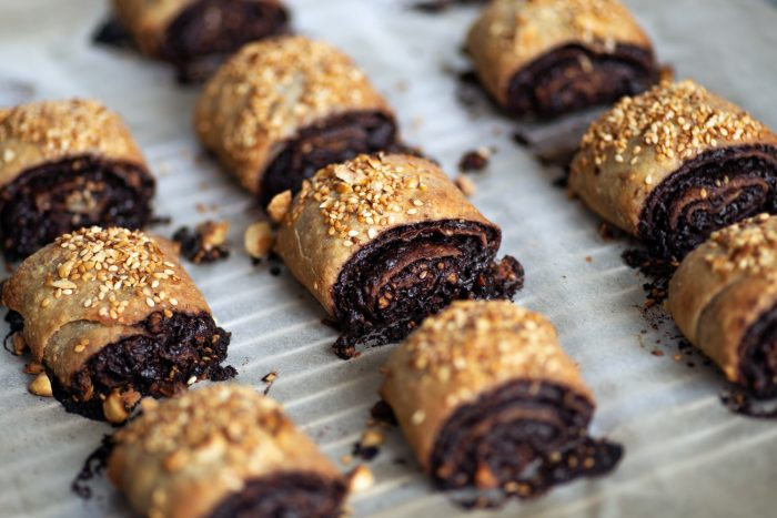 Chocolate, Sesame and Hazelnut Rolls by Yotam Ottolenghi in the new SIMPLE cookbook