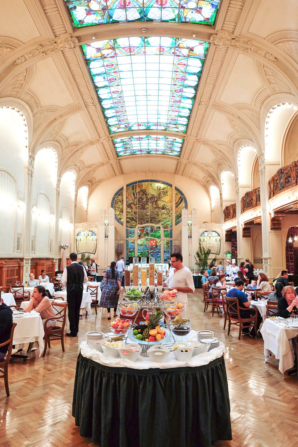 The Art Nouveau-style restaurant L'Europe at Belmond Grand Hotel Europe in Saint Petersburg, Russia