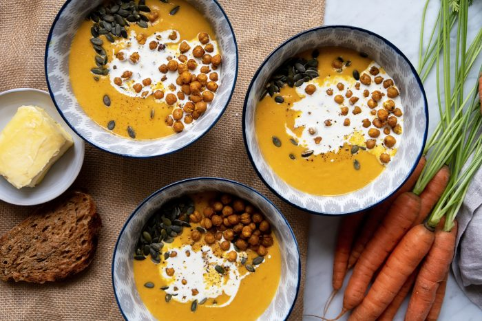 Carrot and chickpea soup