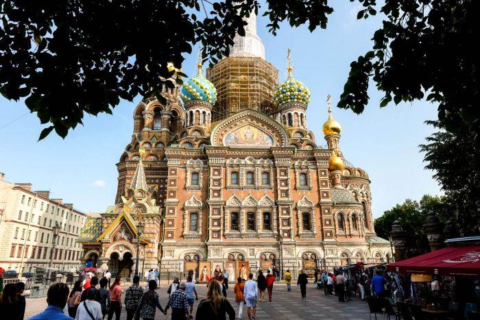 Churchof the Saviour onSpilledBlood in Saint Petersburg, Russia