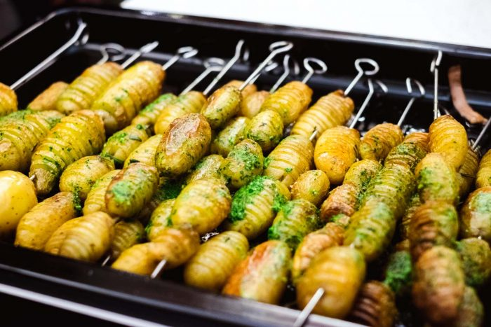 Hasselback Potato Skewers with parsley and garlic butter | Recipe by Chef Dan Doherty