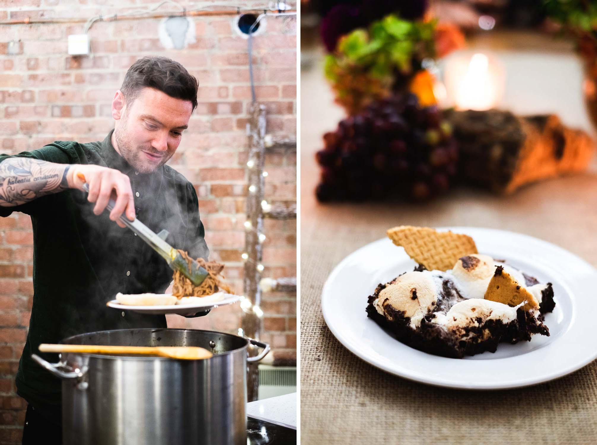 Bonfire Night Feast was hosted by Leisure and 'Britain's Best Home Cook' judge Dan Doherty, at The Vinyl Factory in London, on 5th November 2018.