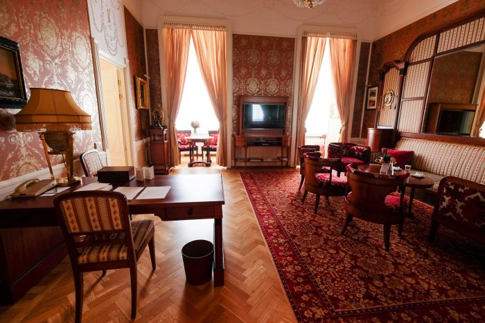 The Lidval Suite. One of 10 historic suites at Belmond Grand Hotel Europe in Saint Petersburg, Russia