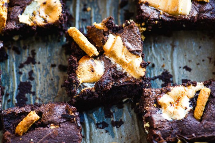 Triple Chocolate 'Smores Brownies with Digestive Biscuits | Recipe by Chef Dan Doherty | Photography by Mondomulia